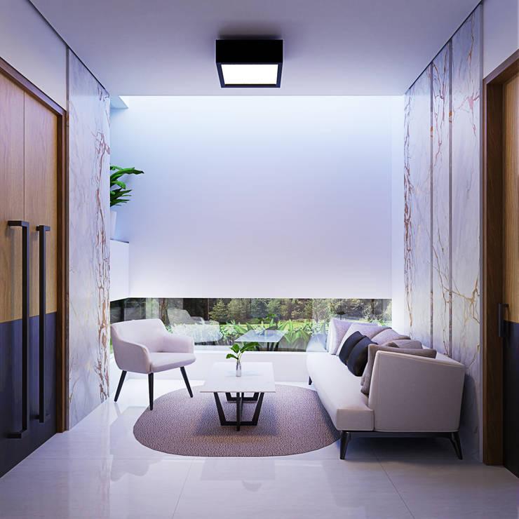 Ruang Tamu Ruang Keluarga Modern Oleh GUBAH RUANG studio Modern Batu Bata
