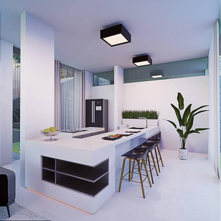 Dapur/Ruang Makan Oleh GUBAH RUANG studio Modern Kaca