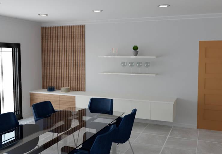 Dining room Modern dining room by Designs by Meraki Modern MDF