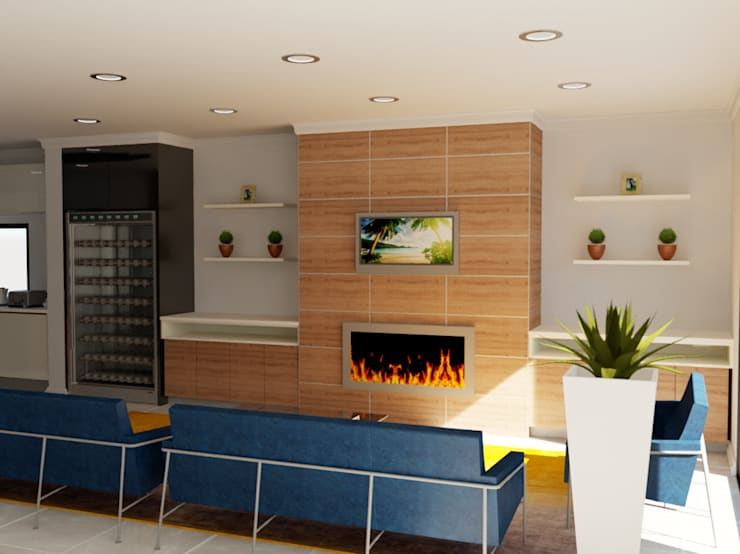 Living room Modern living room by Designs by Meraki Modern MDF