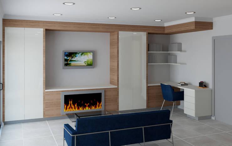Main Bedroom lounge Modern style bedroom by Designs by Meraki Modern MDF