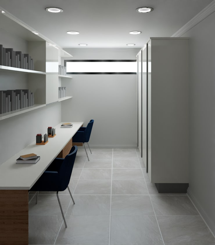 Study/Home office by Designs by Meraki Modern MDF