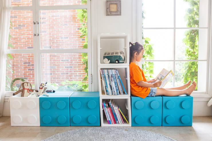 블록으로 만드는 책장과 수납장 by 주식회사 큐빙