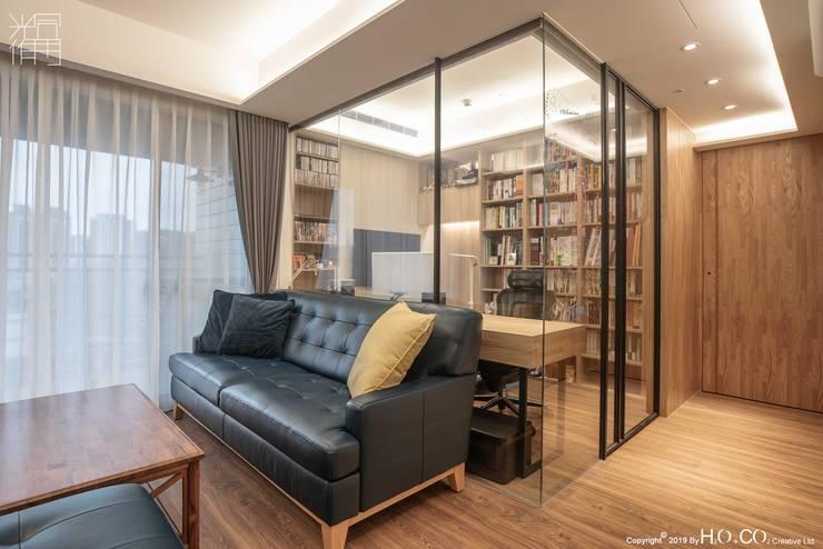 書房 现代客厅設計點子、靈感 & 圖片 根據 光合作用設計有限公司 現代風 鐵/鋼
