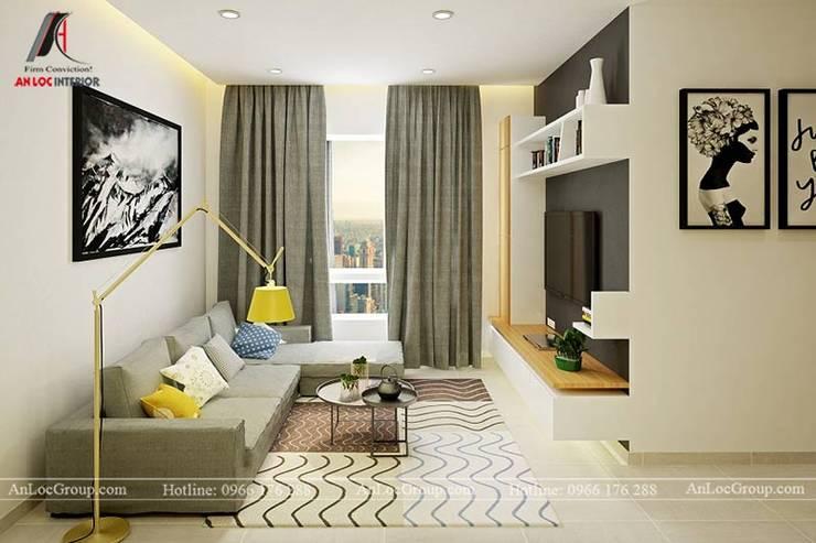 Mẫu nội thất căn hộ 73m2 tại Dreamland Bonanza Duy Tân bởi Nội Thất An Lộc Hiện đại