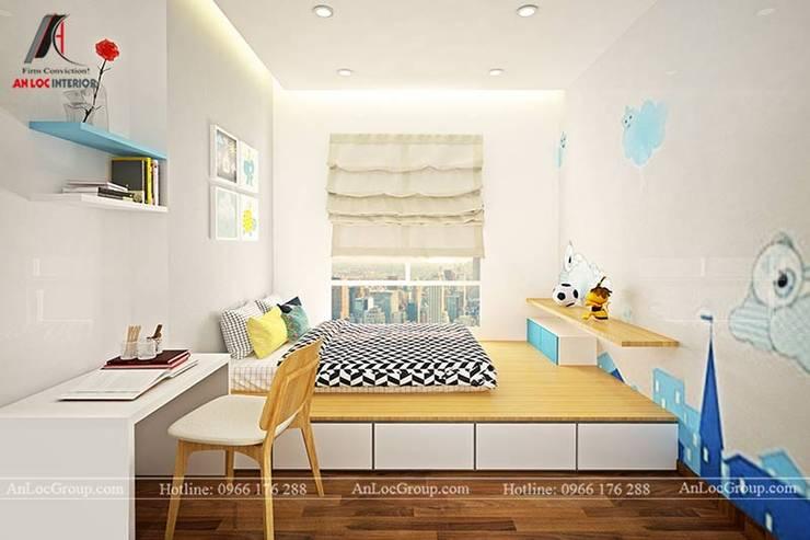 Mẫu nội thất căn hộ 73m2 tại Dreamland Bonanza Duy Tân Phòng trẻ em phong cách hiện đại bởi Nội Thất An Lộc Hiện đại