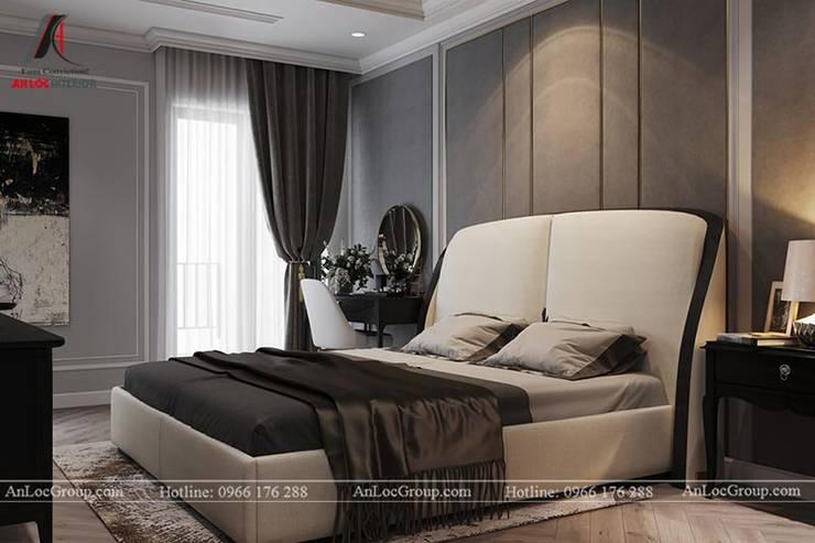 Nội thất chung cư tân cổ điển 133m2 tại Discovery Complex Phòng ngủ phong cách kinh điển bởi Nội Thất An Lộc Kinh điển