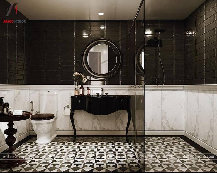 Nội thất chung cư tân cổ điển 133m2 tại Discovery Complex Phòng tắm phong cách kinh điển bởi Nội Thất An Lộc Kinh điển