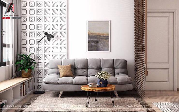 Mẫu nội thất căn hộ mini chỉ 35m2 tại Mễ Trì Hạ, Nam Từ Liêm, Hà Nội bởi Nội Thất An Lộc Hiện đại