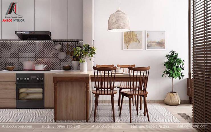 Mẫu nội thất căn hộ mini chỉ 35m2 tại Mễ Trì Hạ, Nam Từ Liêm, Hà Nội Phòng ăn phong cách hiện đại bởi Nội Thất An Lộc Hiện đại