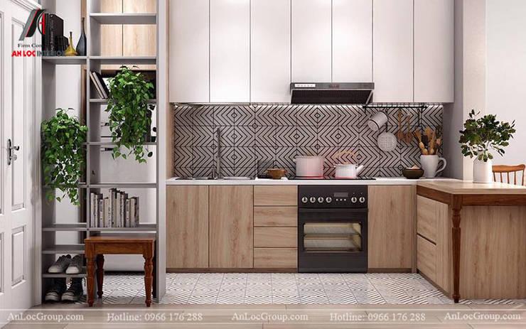 Mẫu nội thất căn hộ mini chỉ 35m2 tại Mễ Trì Hạ, Nam Từ Liêm, Hà Nội Nhà bếp phong cách hiện đại bởi Nội Thất An Lộc Hiện đại