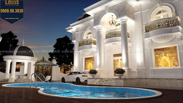Biệt thự đẹp tân cổ điển 2 tầng có hồ bơi bởi Công Ty Thiết Kế Xây Dựng LOUIS