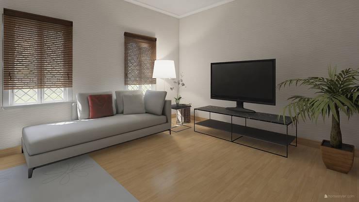 Salon Modern Living Room by ISPMedia Modern Wood Wood effect