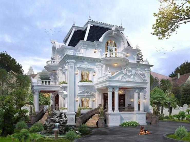 Biệt thự 3 tầng kiểu Pháp siêu đẹp tại Hà Nội bởi Công ty thiết kế biệt thự đẹp