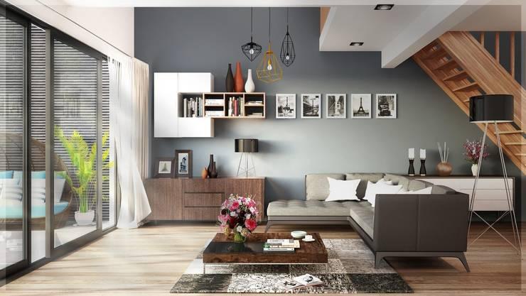 Interiors Designs من شركة تشطيبات شقق / فيلات / قصور Houzz Egypt حداثي