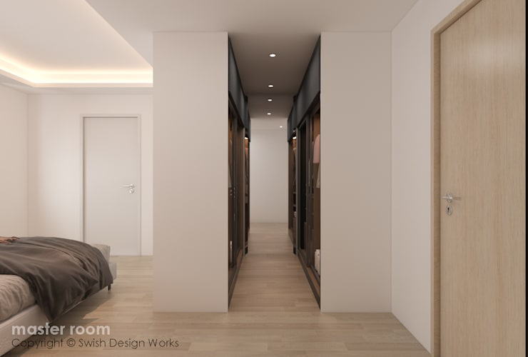 Master Bedroom wardrobe by Swish Design Works Classic Plywood