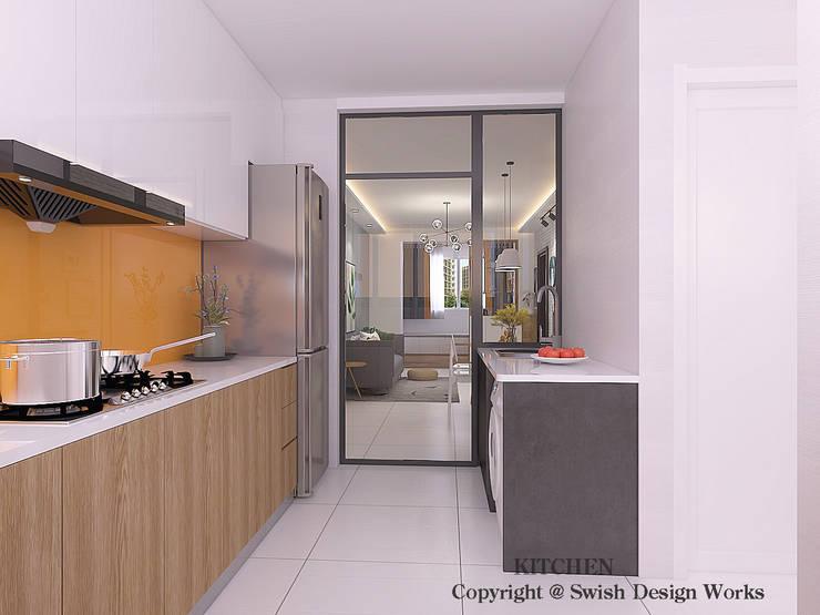 Kitchen cabinets by Swish Design Works Scandinavian Plywood
