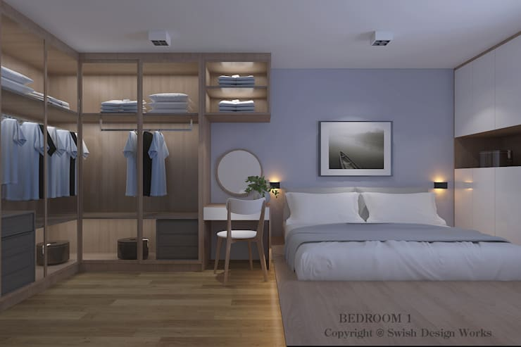 Master Bedroom by Swish Design Works Scandinavian Plywood
