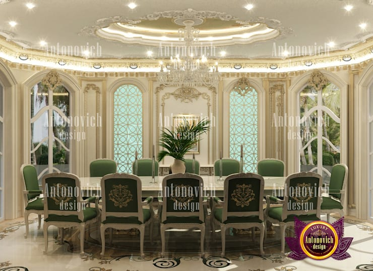 Dining Room Design Bahrain by Luxury Antonovich Design