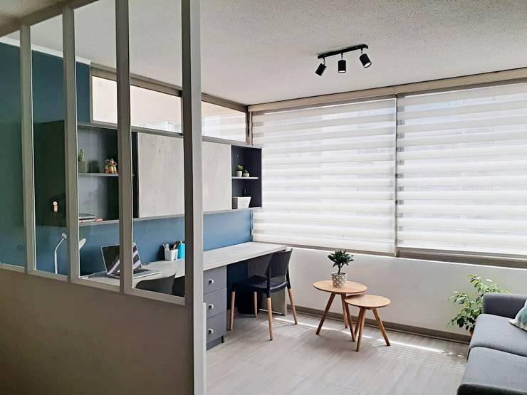 Terraza transformada en sala de estar de Estudio Arquitectura y construccion PR/ Arquitectura, Construccion y Diseño de interiores / Santiago, Rancagua y Viña del mar Moderno