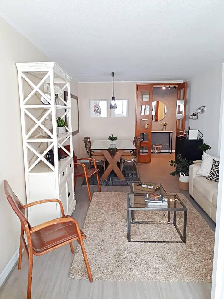 Living /Comedor de Estudio Arquitectura y construccion PR/ Arquitectura, Construccion y Diseño de interiores / Santiago, Rancagua y Viña del mar Moderno