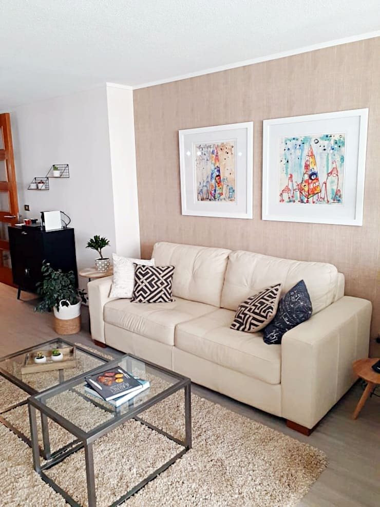 Living / Cafetera de Estudio Arquitectura y construccion PR/ Arquitectura, Construccion y Diseño de interiores / Santiago, Rancagua y Viña del mar Moderno