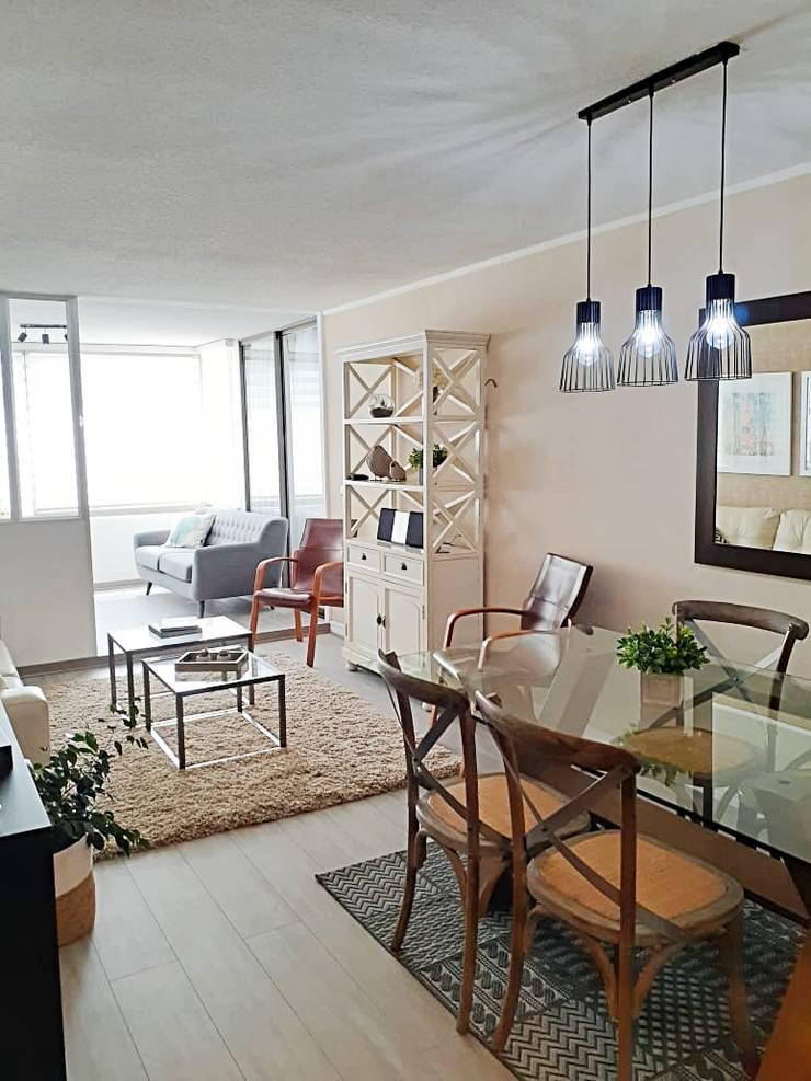 Living Comedor de Estudio Arquitectura y construccion PR/ Arquitectura, Construccion y Diseño de interiores / Santiago, Rancagua y Viña del mar Moderno