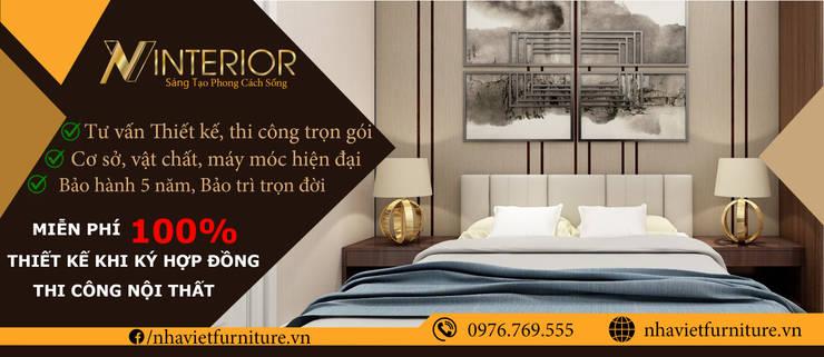 Thiết kế thi công nội thất chung cư - Green pearl Minh khai bởi Thiết kế thi công nội thất - Nhà Việt Furniture Hiện đại MDF