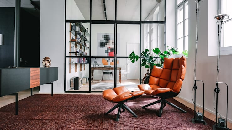 Loft Modern Living Room by Anastasia Schuler Design Modern