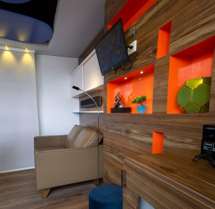 OFICINA DIRECTOR Salas modernas de AQ3 COL SAS Moderno