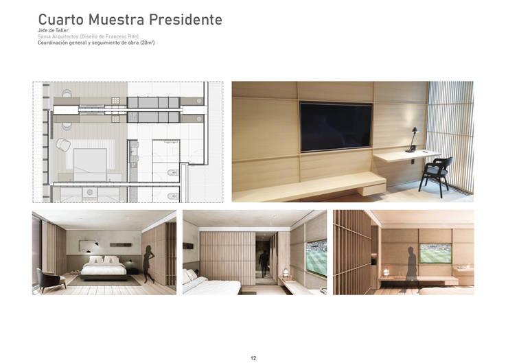 Hotel Minimalist bedroom by üStudio Minimalist