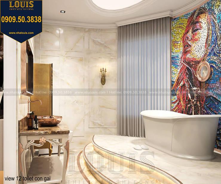 Mẫu trang trí phòng tắm huyền bí và đẳng cấp bởi Công Ty Thiết Kế Xây Dựng LOUIS