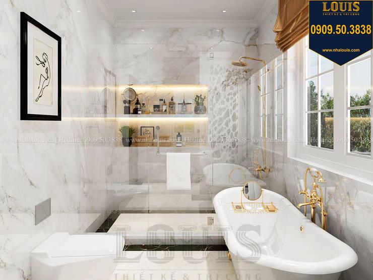 Thiết kế phòng tắm sang trọng, ngập tràn ánh nắng bởi Công Ty Thiết Kế Xây Dựng LOUIS