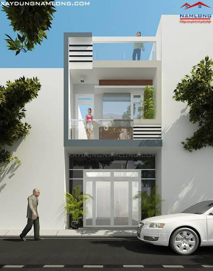 Các mẫu mặt tiền nhà phố 5m 2 tầng đẹp bởi Thiết kế nhà đẹp ở Hồ Chí Minh