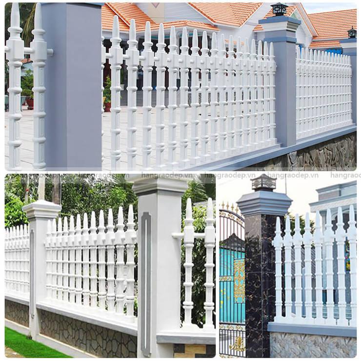 Hoàn thiện công trình hàng rào trụ tháp biệt thự gia đình anh Đức, khu đô thị mới Yên Phong, Bắc Ninh Tường & sàn phong cách hiện đại bởi Hàng rào ly tâm Bilico Hiện đại Bê tông