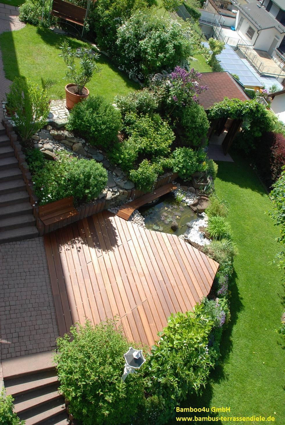 18 tolle Gärten mit Holzterrasse