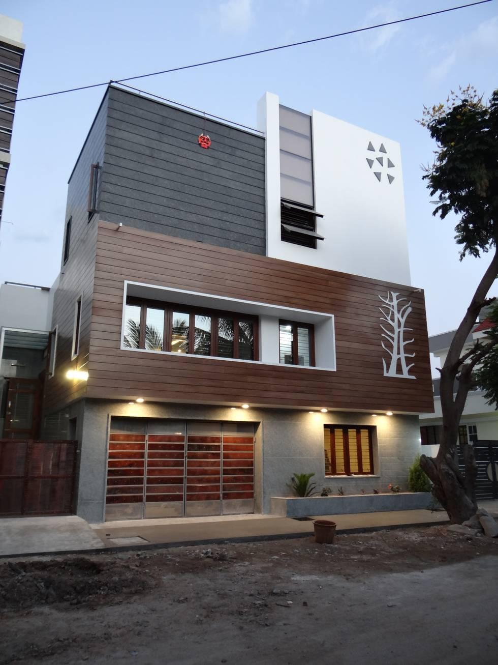 A modern but simple house from Bellary, Karnataka
