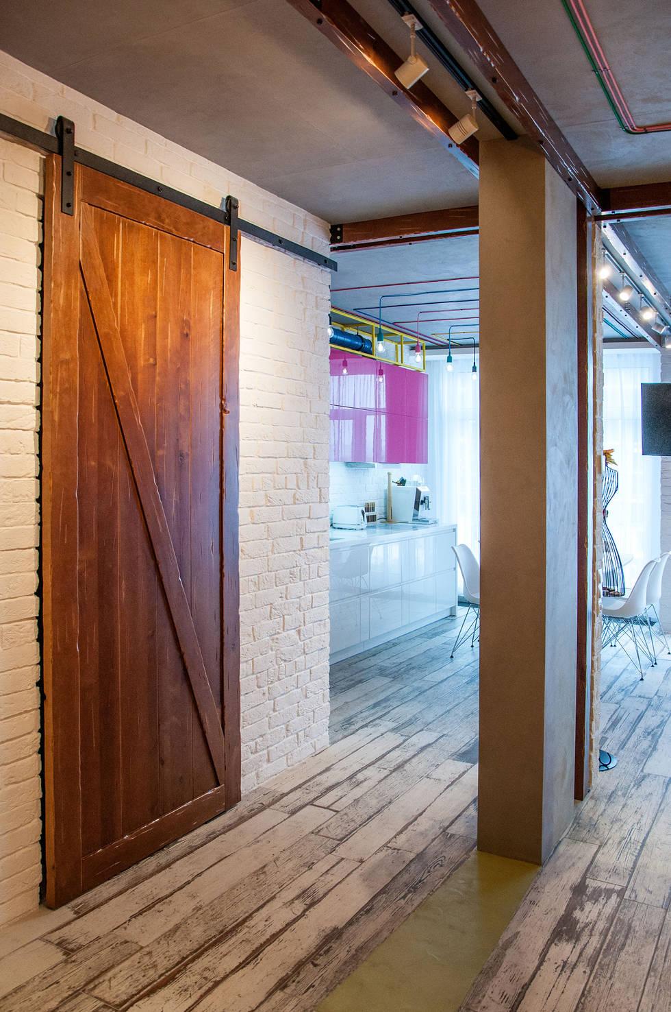Индустриальный шик: современная квартира в Киеве