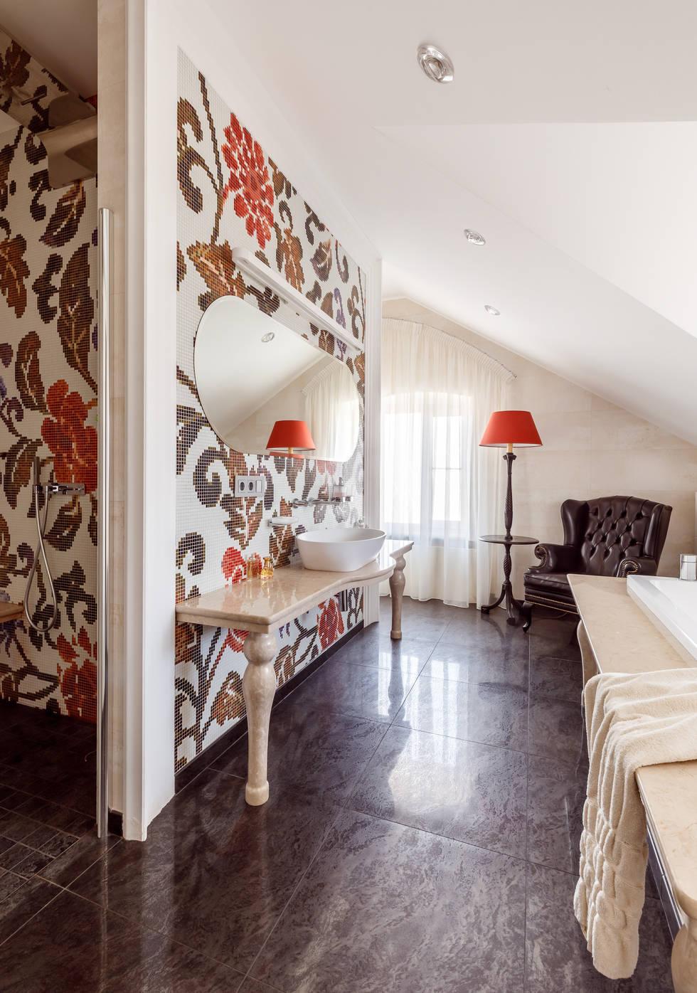 На фото - Дизайн интерьера загородного дома в Краснодаре