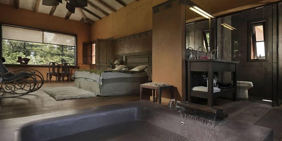 Chalet Atamisque: Dormitorios de estilo  por Bórmida & Yanzón arquitectos