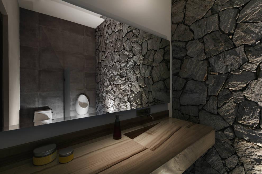 Baño Exterior: Baños de estilo  por Juan Luis Fernández Arquitecto
