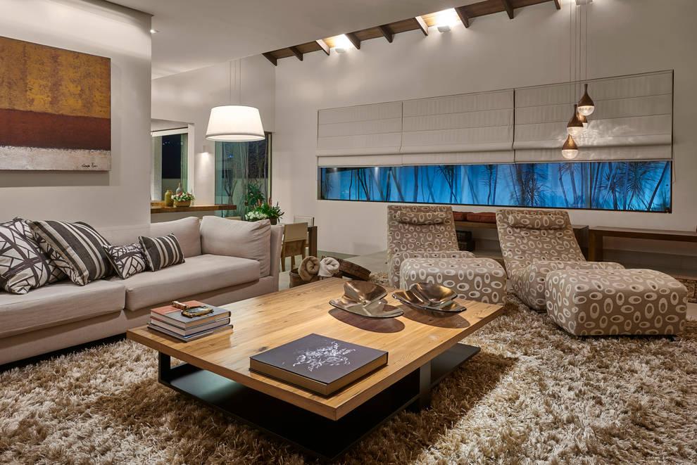 Residência AM: Salas de estar modernas por Isabela Canaan Arquitetos e Associados