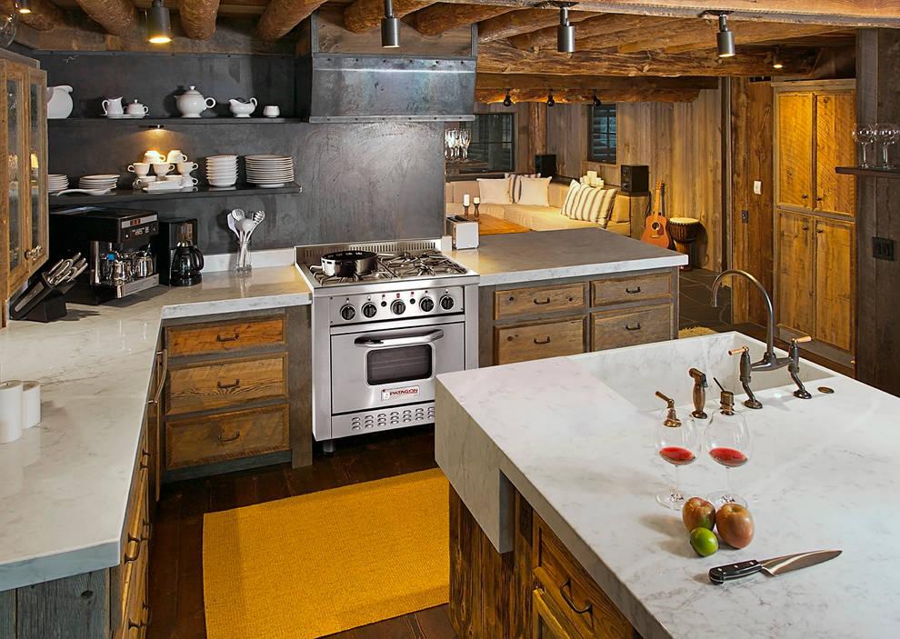 Cocina semi industrial Patagon Chef W30 estilo rústico: Cocinas de estilo  por Patagon Chef