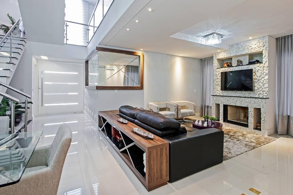 Salas multimedia de estilo  por Patrícia Azoni Arquitetura + Arte & Design