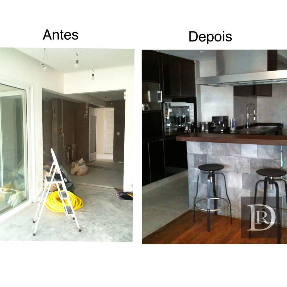 Cozinha integrada:   por Debora de Rezende | arquitetura e interiores