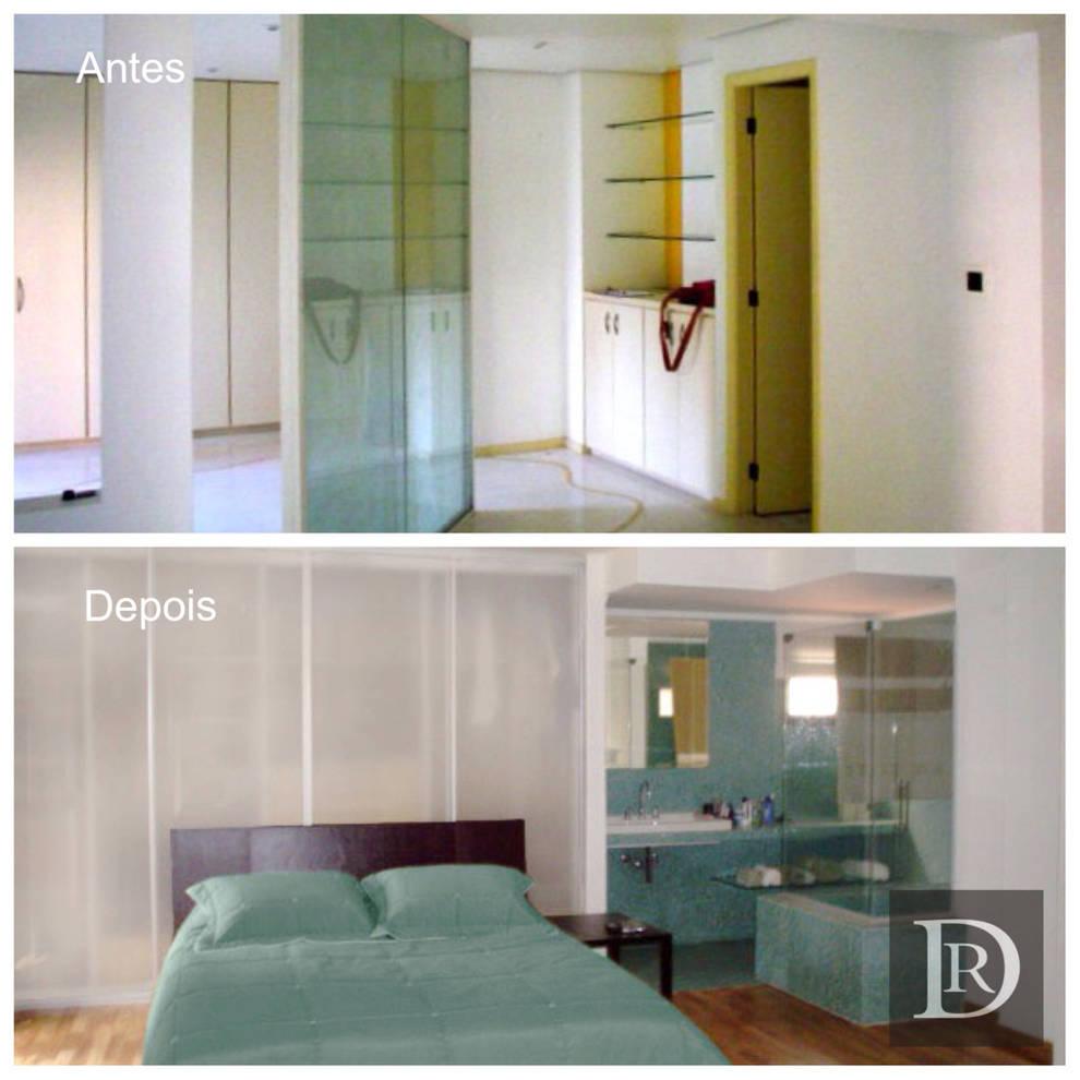 LOFT | dormitório e banheiro:   por Debora de Rezende | arquitetura e interiores