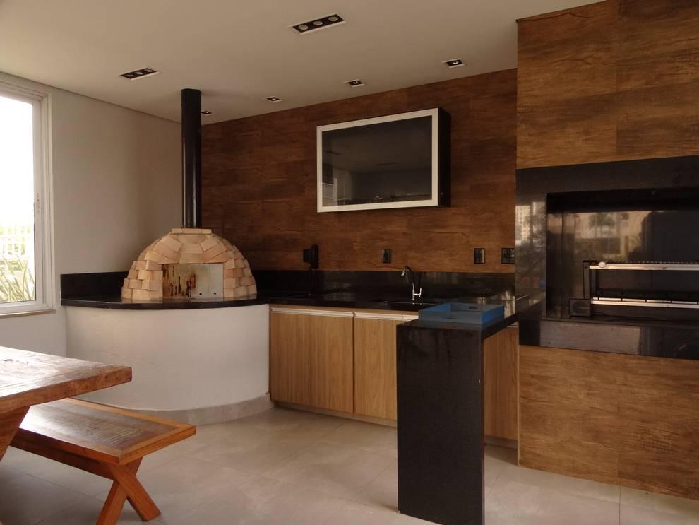 Terrazas de estilo  por Daniela Simões Arquitetura e Interiores