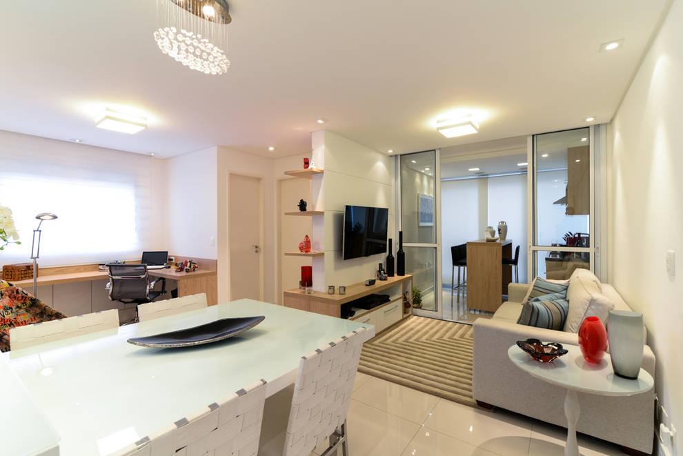 Projeto Bairro do Juventus - Mooca: Salas de estar modernas por RAFAEL SARDINHA ARQUITETURA E INTERIORES