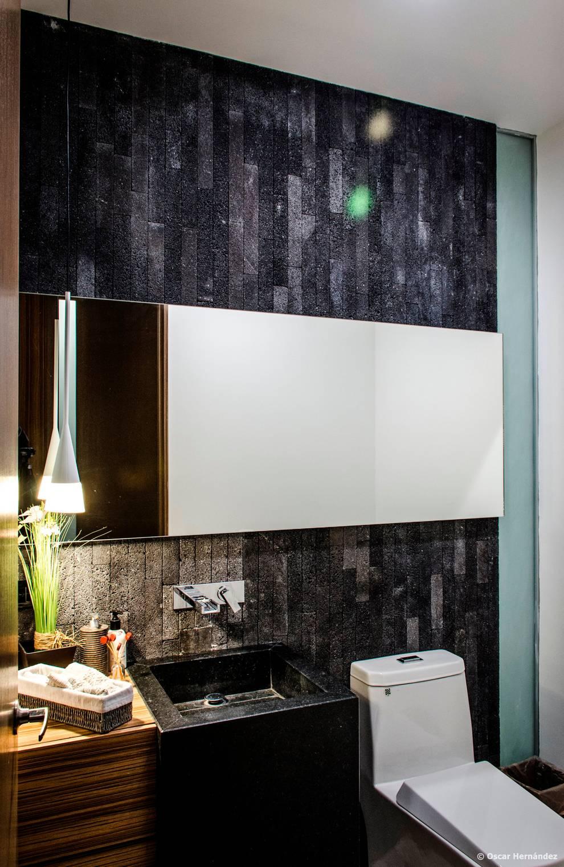 casaMEZQUITE: Baños de estilo  por BAG arquitectura