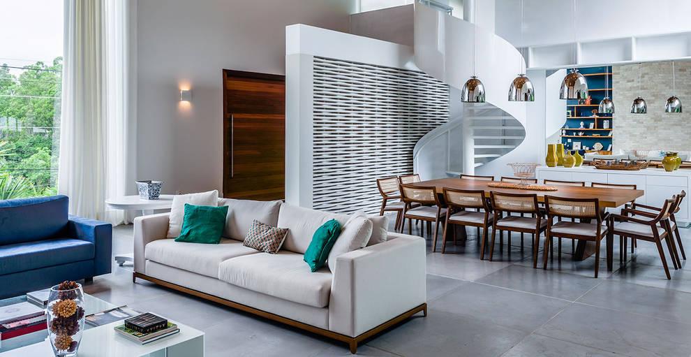 Casa de Veraneio Itu: Salas de estar  por Radô Arquitetura e Design